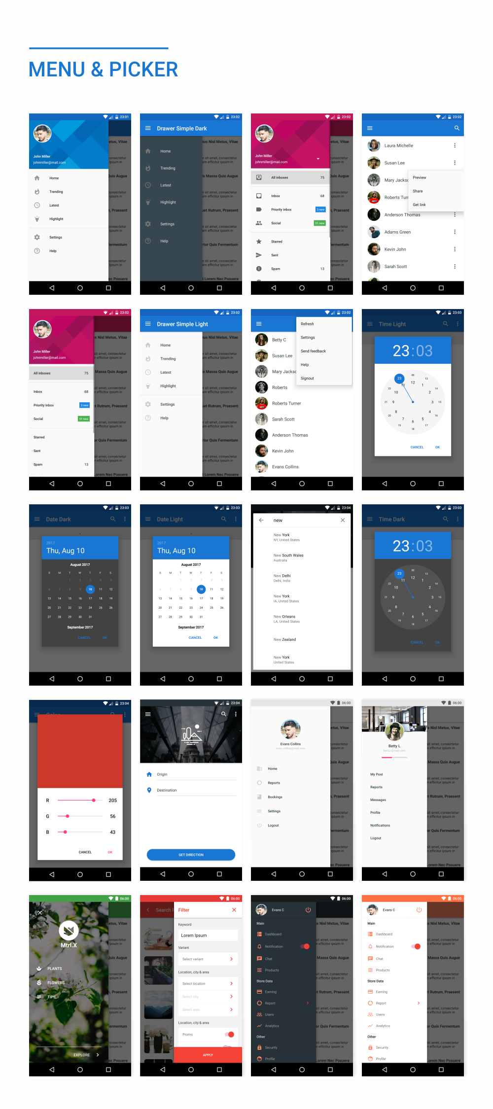 MaterialX - Android Material Design UI Components 2.4 - 38