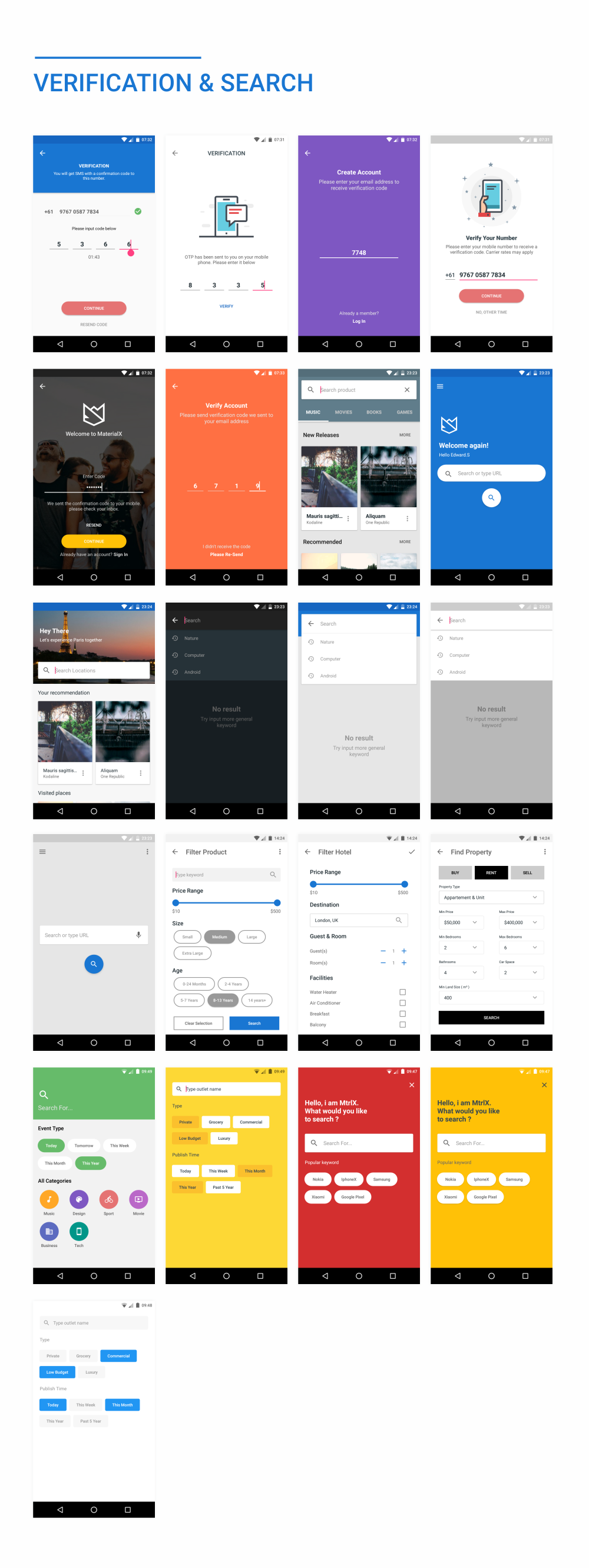 MaterialX - Android Material Design UI Components 2.4 - 45