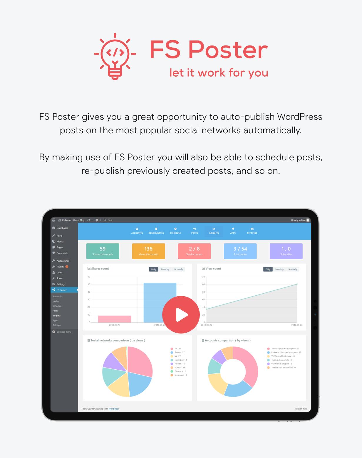 FS Poster - WordPress Auto Poster & Scheduler - 5