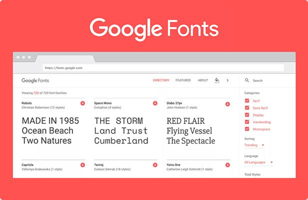 support all google fonts
