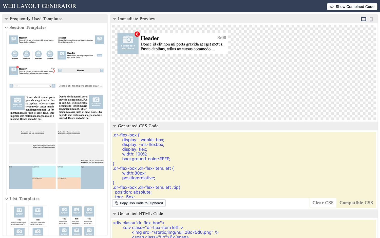 Web Layout Code Generator - 3