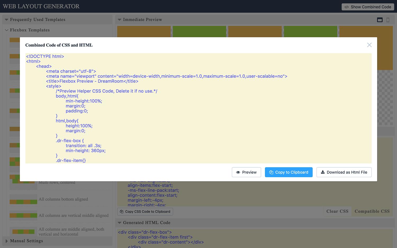 Web Layout Code Generator - 5