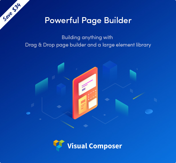 Sober WordPress theme powered with Visual Composer page builder