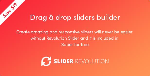 Sober WordPress theme includes Revolution Slider plugin