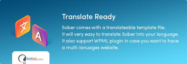Sober WordPress translate ready