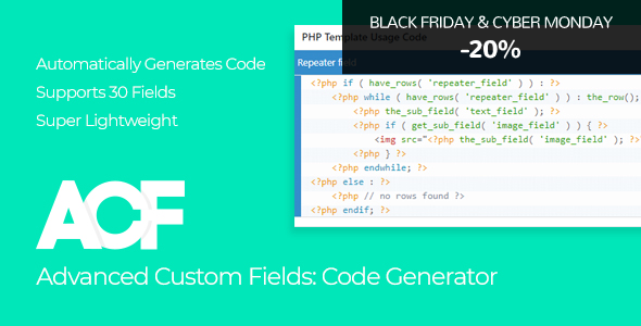Photo of Get Advanced Custom Fields – Code Generator Download