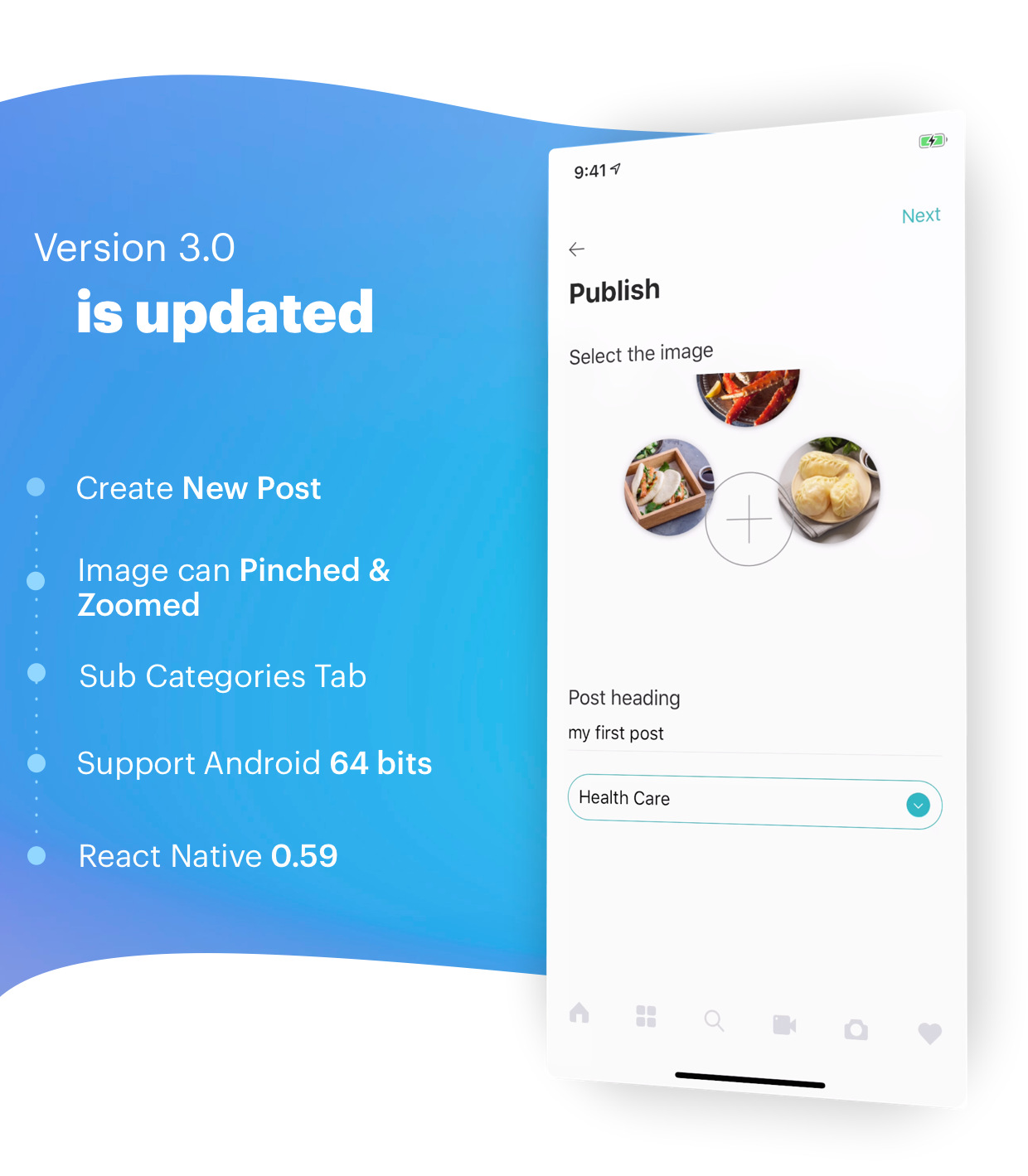 BeoNews Pro - React Native mobile app for WordPress - 1