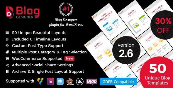 Photo of Get Blog Designer PRO for WordPress Download