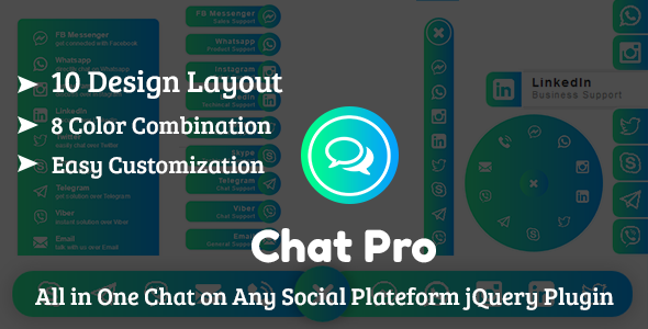 Photo of Get ChatPro – All in One Chat on Any Social Plateform jQuery Plugin Download