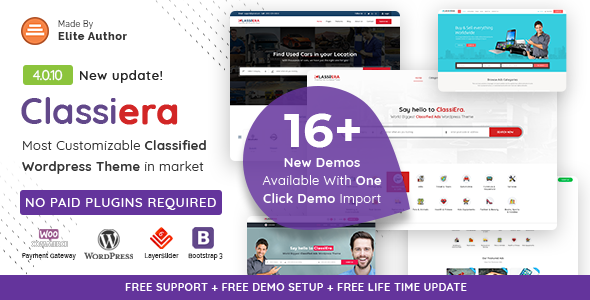 Photo of Get Classiera – Classified Ads WordPress Theme Download