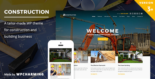 Photo of Get Construction WordPress Theme Download