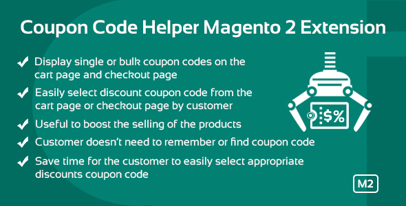 Coupon Code Helper Magento 2 Extension