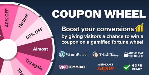 Photo of Get Coupon Wheel For WooCommerce and WordPress Download