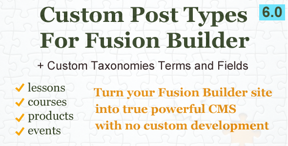 Photo of Get Custom Post Types and Taxonomies for Fusion Builder Download