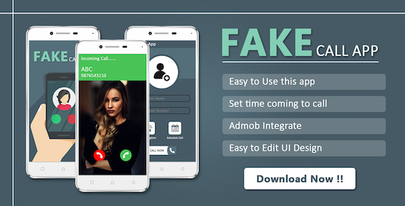 Photo of Get Fake Call : Android app source code Download