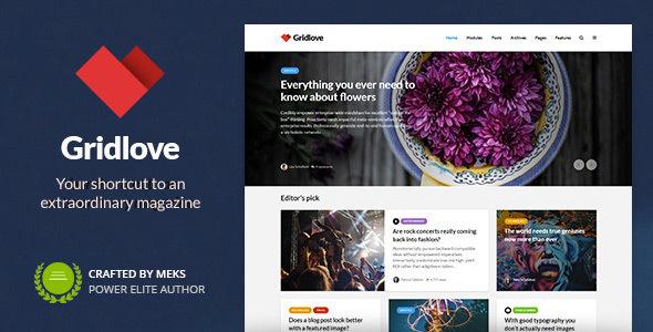 Photo of Get Gridlove – Creative Grid Style News & Magazine WordPress Theme Download