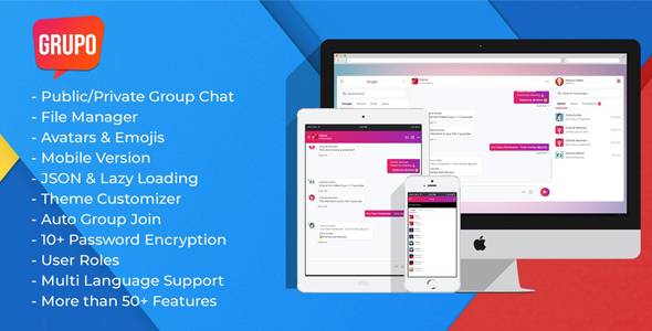Photo of Get Grupo Pro – Chat room script Download
