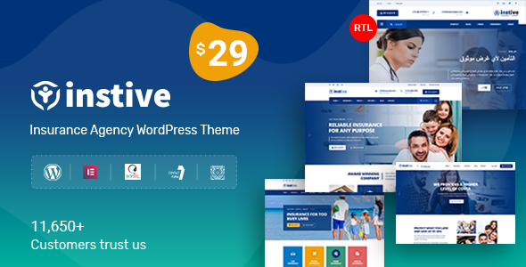 Photo of Get Instive – Insurance WordPress Theme Download
