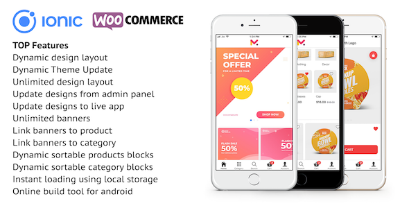 Photo of Get Ionic 4 app for WooCommerce Download
