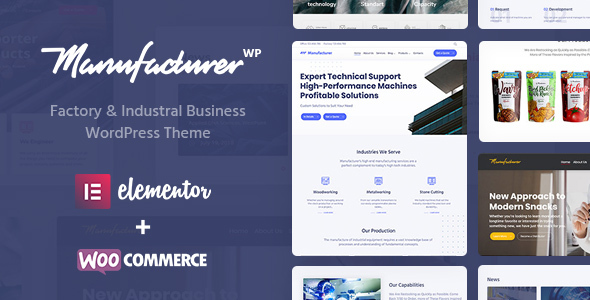 Photo of Get Manufacturer – Factory and Industrial WordPress Theme Download