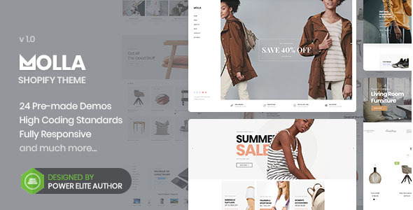 Photo of Get Molla – Multipurpose Responsive Shopify Theme Download