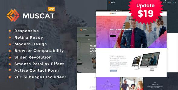 Photo of Get Muscat : Multipurpose WordPress Theme Download