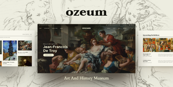 Photo of Get Ozeum | Art Gallery and Museum WordPress Theme Download