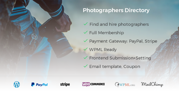 Photo of Get Photographer Directory – WordPress Plugin Download