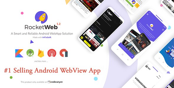 Photo of Get RocketWeb | Configurable Android WebView App Template Download