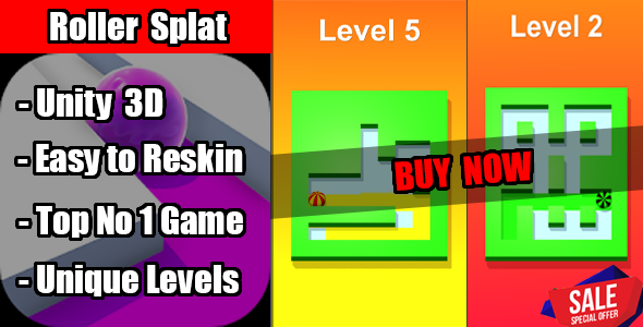 Photo of Get Roller Splat Game Unity Source Code Download