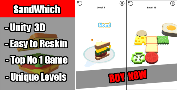 Photo of Get SandWhich Game Unity Source Code Download