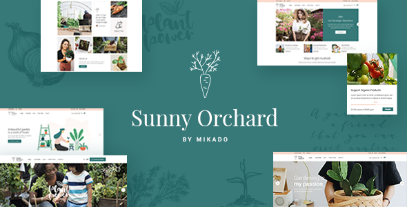 Photo of Get SunnyOrchard – Landscaping and Gardening Theme Download