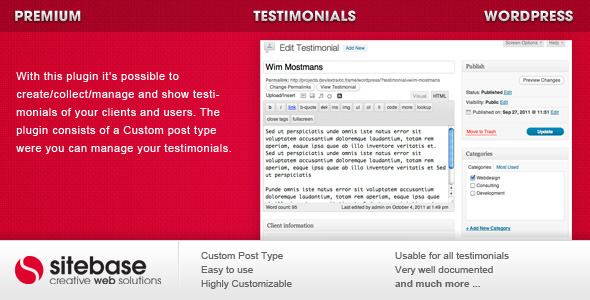 Photo of Get Testimonials for WordPress Download