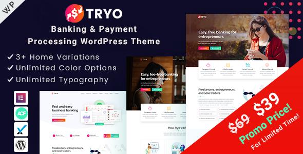 Photo of Get Tryo – Banking & Payment WordPress Theme Download