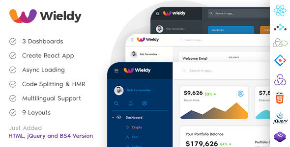 Photo of Get Wieldy – React Admin Template Ant Design and Redux Download