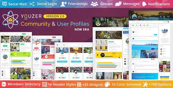 Photo of Get Youzer – Buddypress Community & Wordpress User Profile Plugin Download
