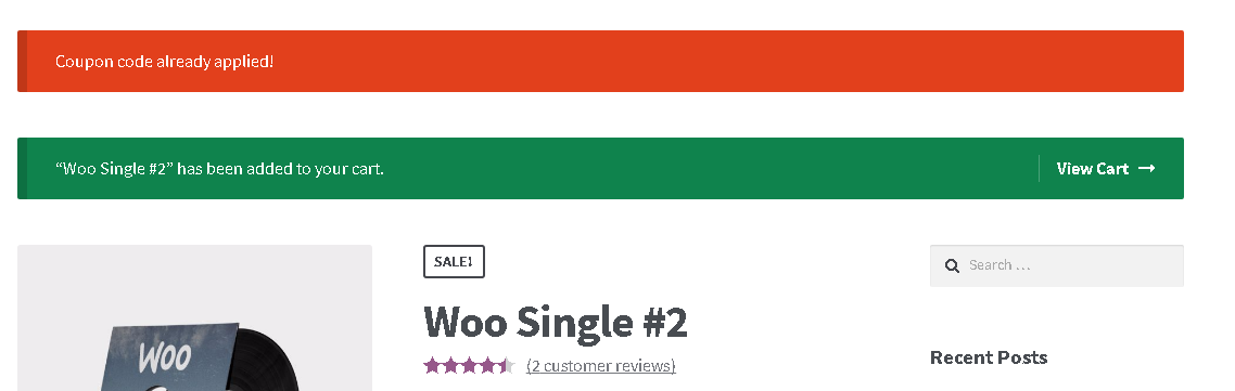WooPlugins - Woocommerce Coupon Code Links - 4