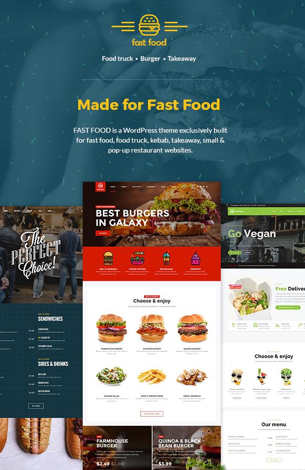 Fast Food WordPress Theme - 1