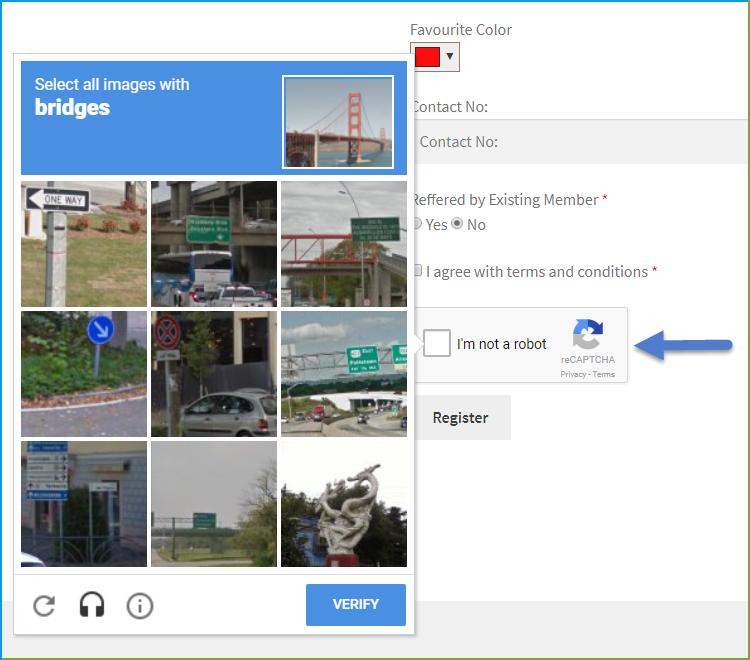 WooCommerce Registration plugin - Google Recaptcha