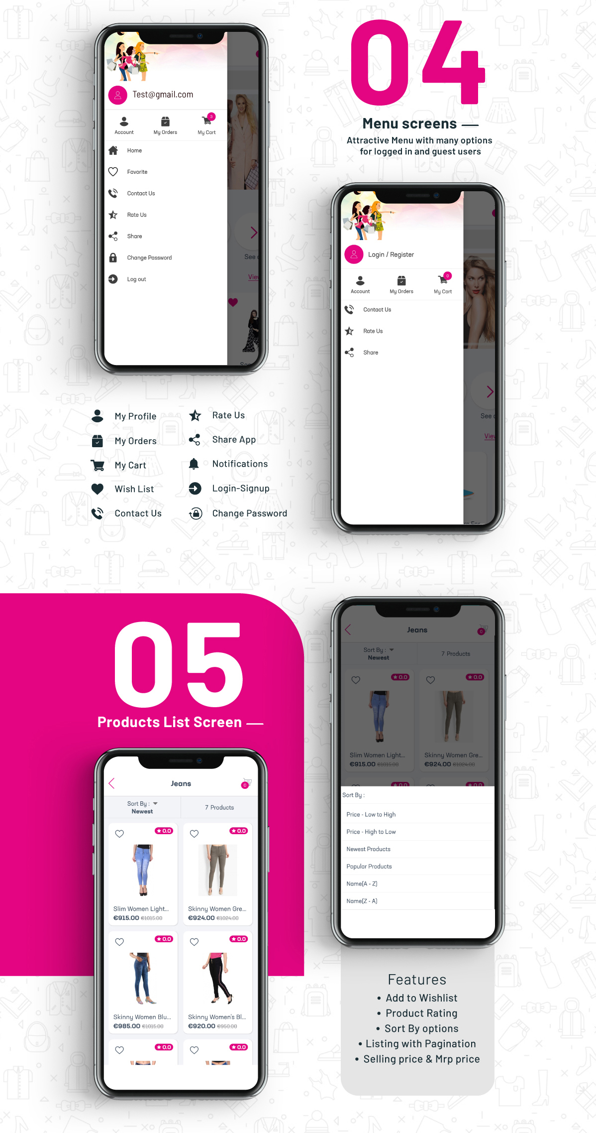 Complete Native Android Shopping App Source Code with Opencart - 4