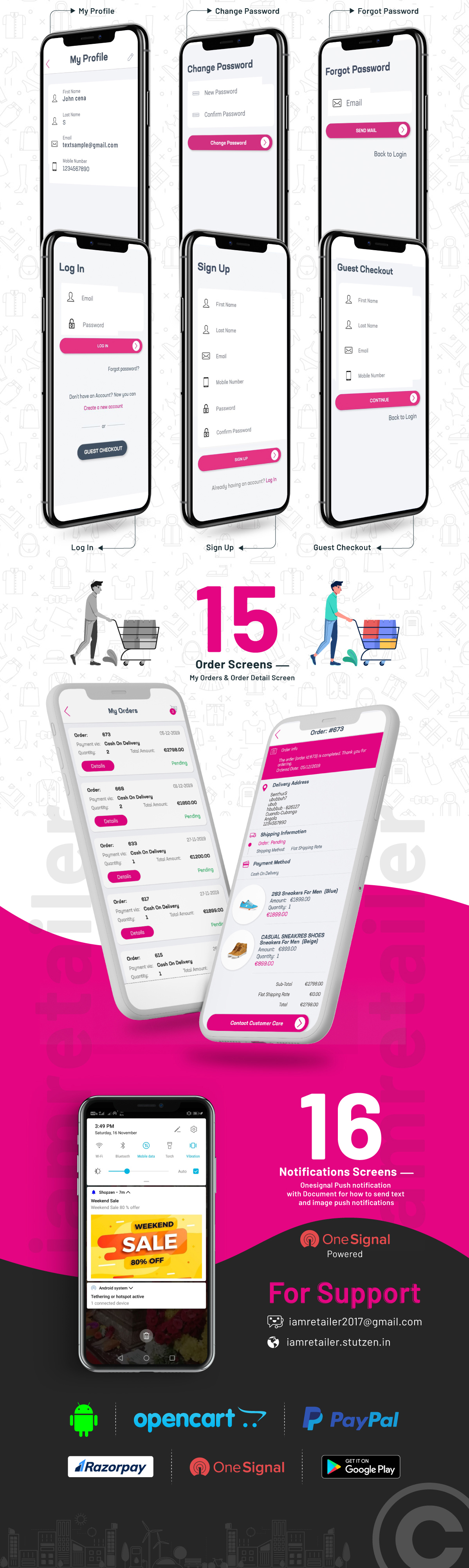 Complete Native Android Shopping App Source Code with Opencart - 8