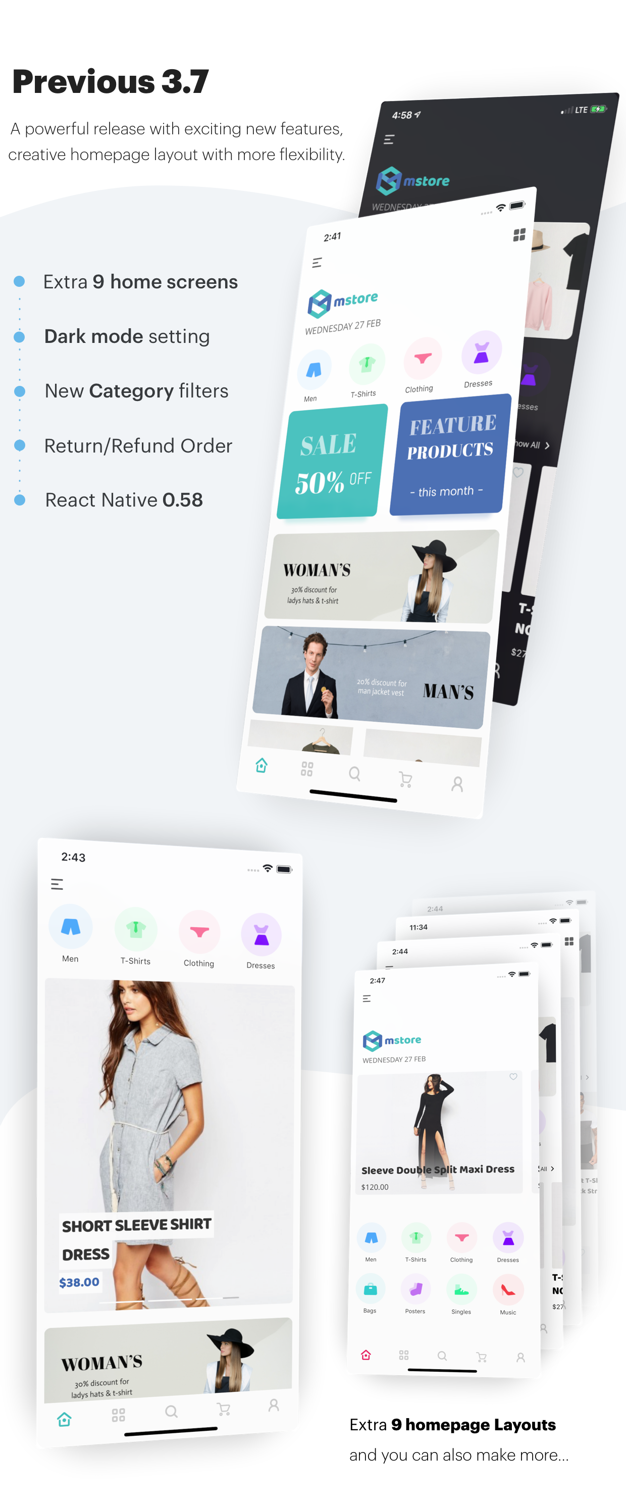 MStore Pro - Complete React Native template for e-commerce - 5
