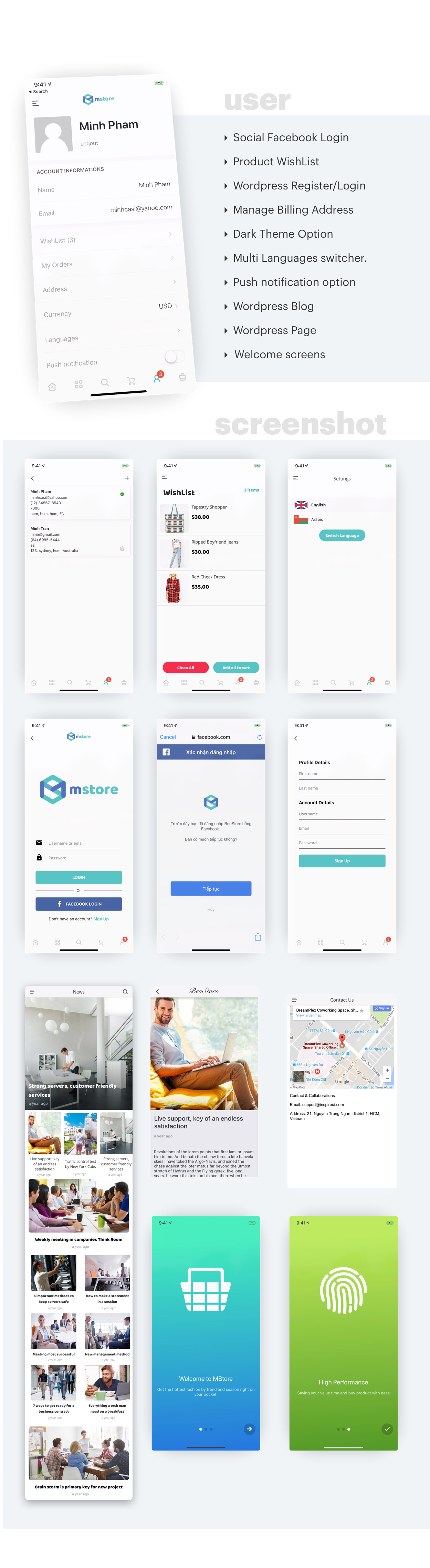 MStore Pro - Complete React Native template for e-commerce - 11