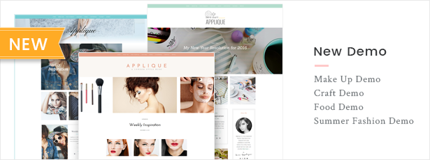 Fashion Blog Theme - Applique - 5