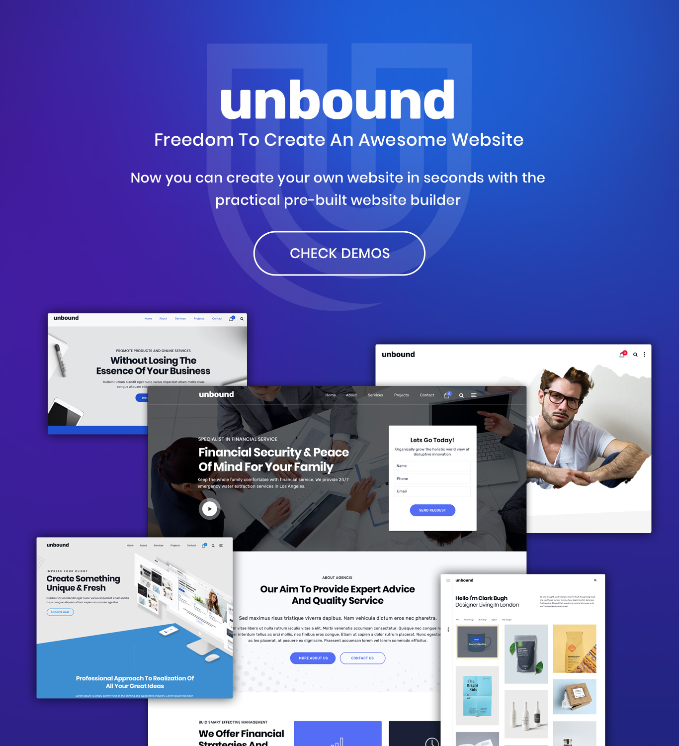 Unbound multipurpose theme demo