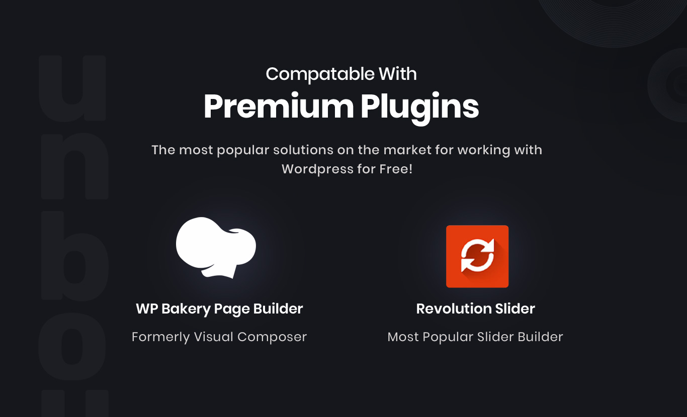 Premium plugins included