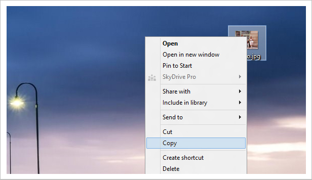Paste local images stored on your PC
