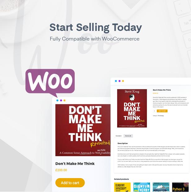 WooCommerce ready education WordPress theme