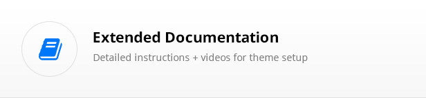 extensive documentations with video tutorials