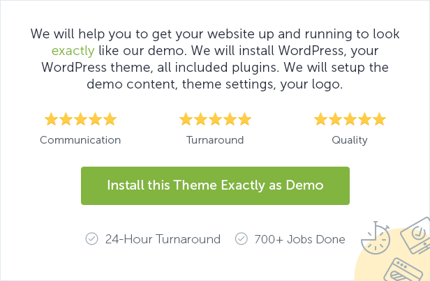 Install this theme exactly as demo
